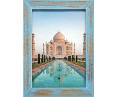 Henzo 8143607 India Bilderrahmen, Holz, blau, 50 x 40 x 1.5 cm