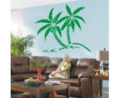 Indigos WG30430-80 Wandtattoo w430 Palme Baum Pflanze Wandaufkleber 120 x 101 cm, braun