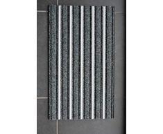 HANSE Home 45x75 cm Alu Fussmatte Schmutzfangmatte mit Aluminium Profil, Polypropylen, Grau, 47.5 x 75 x 1.3 cm