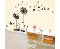 Walplus - Löwenzahn Pusteblume Wand Sticker Aufkleber Heim Dekoration