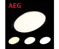 Almeda LED Panel Deckenleuchte per Fernbedienung stufenlos dimmbar, Memoryfunktion, Ø75cm, 58 Watt, 5500 Lumen, 2700 (warmweiß) bis 6000 (kaltweiß) Kelvin in eisen