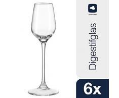 Leonardo Digestif-Glas Tivoli, elegante Schnaps-Gläser langstielig, Gläser-Set mit 100-ml Nutzinhalt, 6-teilig, 020969