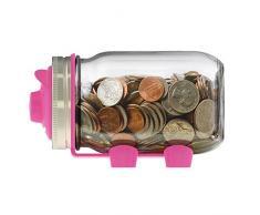 jarware 82661 Spice Deckel Standardgröße Mund Regular Mouth Piggy Bank: Pink