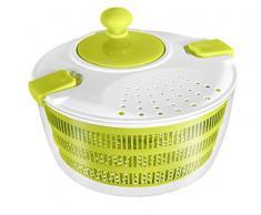 STONELINE 18715 Salatschleuder mit Kurbel, ideal zum Waschen und Trocknen von Salat, Gemüse und Kräutern Küchenhelfer, Kunststoff, grün, 24.4 x 24.4 x 14.9 cm