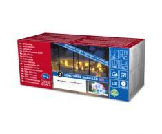 Konstsmide 4650-503 LED Hightech System Erweiterung / Lichterkette / für Außen (IP44) / 50 bunte Dioden / transparentes Kabel