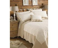 Riva Paoletti Fayence (VAR) Tagesdecke, Baumwolle, Taupe, King Size
