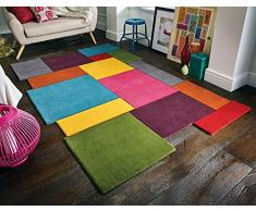 Rugs Direct Teppich, Wolle, Mehrfarbig, 60 x 230 cm