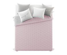 Room99 Tagesdecke Steppdecke Decke Bettüberwurf Muster Next Cube Doppelseitig Größe 170 cm 240 cm 200 cm (Next Cube Blogggy Pinky Light Grey, 200 x 220 m)
