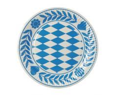 Papstar Pappteller / Einwegteller rund, Bayrisch Blau (100 Stück), 23 cm Durchmesser, aus reinem Frischfaserkarton, für Gastronomie, insbesondere für Feste im Stil vom Oktoberfest, #11177