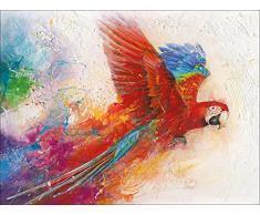 Pro-Art-Bilderpalette cp336w5 Wandbild Canvas-Art Ara Macao, 90 x 120 cm