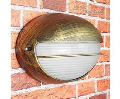Rustikale Wegbeleuchtung Garten Gold Antik wetterfest E27 Glas Maritimer Stil Wandlampe Außen Haus Tür