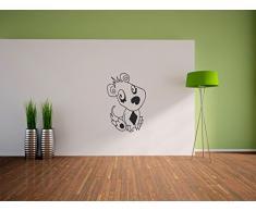 Pixxprint Süßer Hund Wandaufkleber Dekoration für Wohn/Schlaf -und Kinderzimmer, 600 x 390 mm