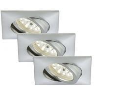 Briloner Leuchten, LED Einbauleuchte, Einbaustrahler, LED Strahler, Spots, Deckenstrahler, Deckenspot, Lampen Wohnzimmer, LED Einbaustrahler 230v, Deckeneinbauleuchten, Einbaustrahler Set, schwenkbar, eckig
