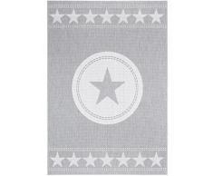 Benuta Outdoor Teppich Essenza Star Grau 120x170 cm   Pflegeleichter Teppich geeignet für Innen- und Außenbreich, Balkon und Terrasse