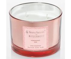 Ritzenhoff 5080003 Aroma Naturals Luxury Duftkerze, Glas, Schwarz/Rosa, 11 x 11 x 8 cm