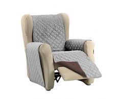 Martina Home Martina Dual Cover Sofaüberwurf mit wendbarer Polsterung 1 Platz Grau/braun