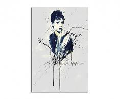 Paul Sinus Art Audrey-Hepburn_90x60-SA Wandbild Leinwand, 90 x 50 x 3 cm, mehrfarbig