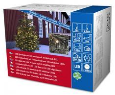 Konstsmide 3611-140 Micro LED Lichterkette / für Außen (IP44) / 24V Außentrafo / 80 warm weiße Dioden / 10 funkelnde Dioden / schwarzes Kabel