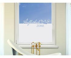 Graz Design 980097_100x57 Sichtschutzfolie Fenstertattoo Fensteraufkleber Deko für Badezimmer Aufhübsch Zone Krone (Größe=100x57cm)