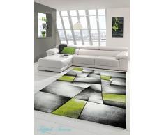 Chic Orange Teppich Brillance/Modern grau/grün 80 x 150 cm