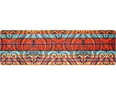 DECO-MAT Rutschfester Teppich-Läufer ohne Rand für den Innenbereich oder Eingangsbereich, 80 x 250 cm, lotus orient