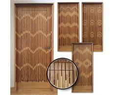 JVL Provence zum Aufhängen Holz Perlen Tür Wellen Vorhang Bildschirm, Mehrfarbig, 90x 180cm