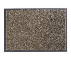 Carpido strapazierfähige Schmutzfangmatte Clara - rutschfeste Türmatte - Fußmatte für den Innenbereich - Eingangsmatte - Vorleger (Taupe, 40x60cm)