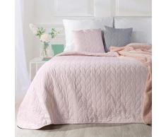 Eurofirany Tagesdecke, Bettüberwurf, Steppdecke, Überwurf, Decke Juliet (170 x 210 cm, Rosa), Kunststoff