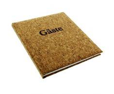 Goldbuch Gästebuch mit Lesezeichen, Kork, 23 x 25 cm, 176 weiße Blankoseiten Schreibpapier, Kunstdruck laminiert, Braun, 48353