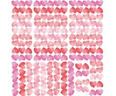 RoomMates RM - Herz Wasserfarbe Wandtattoo, PVC, bunt, 29 x 13 x 2.5 cm