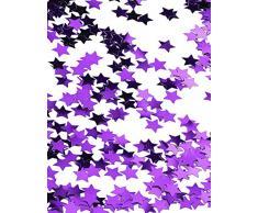 amscan Konfetti Sterne metallic lila