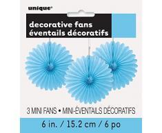 Unique Industries 63251 Decoration Party-Deko, Papier, hellblau