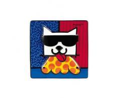 Goebel 66450669 LA Cat Wandbild, Hartporzellan, bunt, 15 x 15 x 1 cm