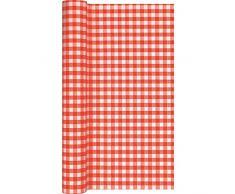 Home Fashion Tischläufer Tl Karo, Rot, 490 x 40 cm, Mehrfarbig, Einheitsgröße