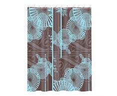 MSV 140805Duschvorhang Polyester + Kunststoff Polypropylen Sonnenschirm blau/braun 180x 200x 0,1cm–12Ringen
