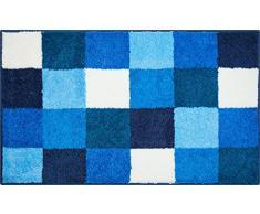 Grund Badteppich 100% Polyacryl, ultra soft, rutschfest, ÖKO-TEX-zertifiziert, 5 Jahre Garantie, BONA, Badematte 70x120 cm, blau