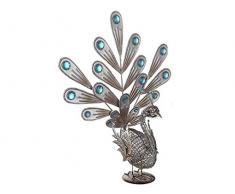 LED Solarleuchte Pfau Au?enbeleuchtung Dekoration Beleuchtung Gartenleuchte Lampe Globo 33309