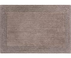 Linea Due beidseitig verwendbar Badteppich 100% Baumwolle, ultra soft, PRIMO, Badematte 60x90cm, taupe
