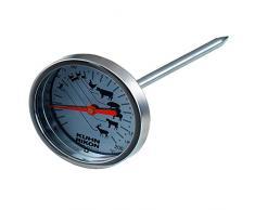 KUHN RIKON 2282 Küchenhelfer Bratenthermometer Edelstahl mit hitzebeständigem Glas, 12 cm