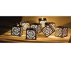 HQ Lichterkette Holz Quadrat 10 LED HQLEDSLSQRWD