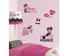 RoomMates RMK2180SCS RM - Disney Minnie liebt Pink Wandtattoo, PVC, Bunt, 29 x 13 x 2.5 cm