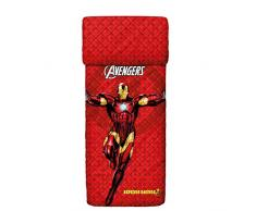 Bassetti Iron Man Tagesdecke, Baumwolle, Rot, Single, 260 x 170 x 0.1 cm