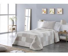 VIALMAN Tagesdecke, Beige, für 105 cm breites Bett: 200 x 270 cm