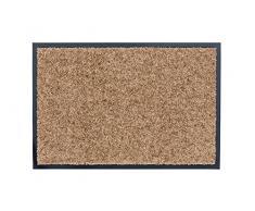 ASTRA hochwertiger Schmutzfangmatte – waschbarer Fußabstreifer – robust – langlebige Fußabtreter – für den Indoorbereich – Sand – 60 x 180 cm