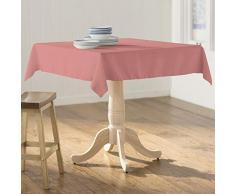LA Linen Polyester Poplin Tischdecke, Dusty Rose, 58 x 58