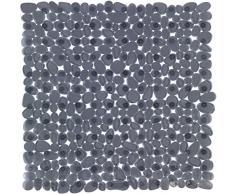 WENKO 22500100 Duscheinlage Paradise Anthrazit, Antirutsch-Duschmatte mit Saugnäpfen, Polyvinylchlorid, 54 x 54 cm, Anthrazit