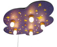 Niermann Standby Deckenleuchte Nachthimmel, Holz, E14, 40 W, 74 x 57 x 7 cm