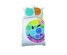 Smiley 043153 Bettwäsche Rainbow, Bauwolle Renforce, 135 x 200 und 80 x 80 cm