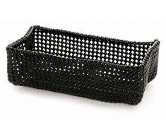 Möve Tube Ablagekorb 30 x 15 x 9 cm aus formbarem Kunststoff, Black
