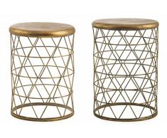 Villa d Este SET Hocker 2Â UDS. Gold